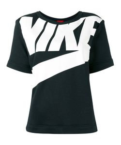 Nike | Logo Print T-Shirt Medium Cotton/Polyester/Viscose