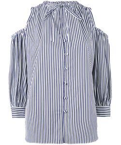 ROSSELLA JARDINI   Striped Cold Shoulder Shirt