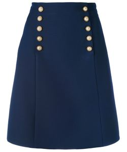 Gucci | Logo Button A-Line Skirt