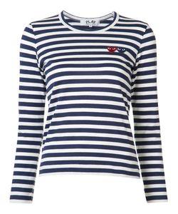 Comme des Gar ons Play | Comme Des Garçons Play Breton Stripe Logo T-Shirt Womens Size Large