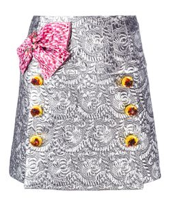 Dolce & Gabbana | Bow Brocade Mini Skirt 38