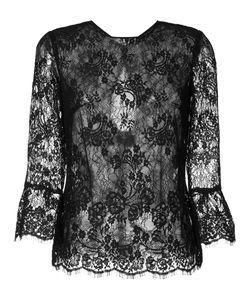 Monique Lhuillier | Прозрачная Кружевная Блуза