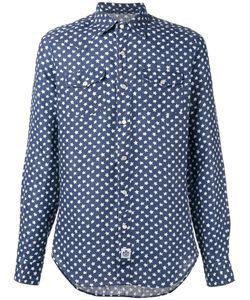Hydrogen   Star Print Shirt Medium Linen/Flax