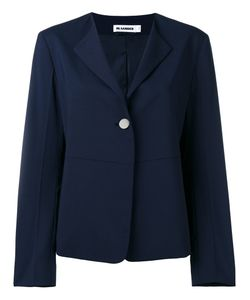 Jil Sander | One Button Blazer 34 Silk/Polyester/Spandex/Elastane/Virgin Wool