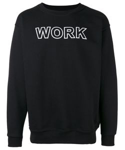 Andrea Crews   Work Print Sweatshirt Small