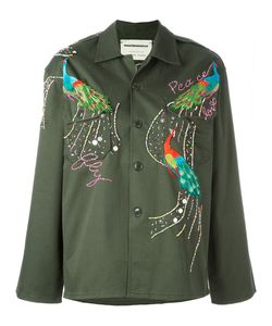 Night Market | Peacock Embroide Jacket Medium Cotton/Polyester/Glass/Metal