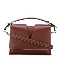 Jil Sander | Contrast Stitching Crossbody Bag Leather