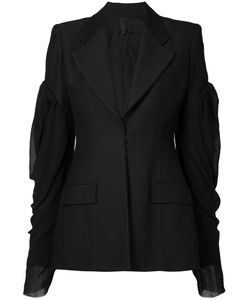 Vera Wang | Puff Sleeve Blazer 4 Nylon/Wool/Cupro/Silk