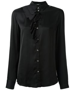 Diesel | Ruffle Detail Shirt Medium Viscose