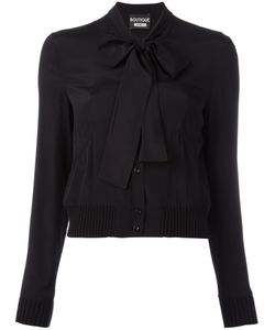 BOUTIQUE MOSCHINO | Pussy-Bow Collar Shirt 46 Silk/Rayon