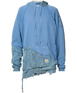 GREG LAUREN | Denim Destroyed Hoodie