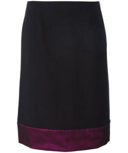 Lanvin | Block Hem Skirt 40 Acetate/Viscose/Polyester/Silk