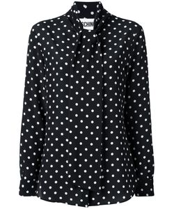 Moschino | Tied Collar Blouse 46 Silk