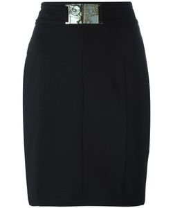 Versace Jeans | Belted Skirt 40 Polyester/Spandex/Elastane
