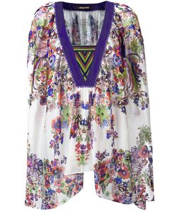 Roberto Cavalli | V-Neck Handkerchief Tunic 42 Silk
