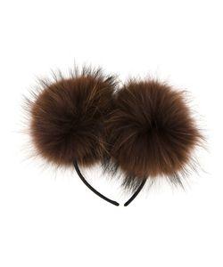 DRESS CAMP | Dresscamp Pompom Headband Racoon Fur