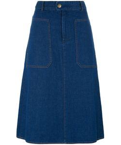 A.P.C.   Fla Denim Skirt 38 Cotton