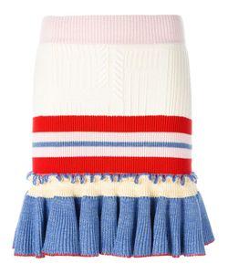 Alexander McQueen | Peplum Mini Skirt Medium Wool/Silk/Polyamide/Spandex/Elastane