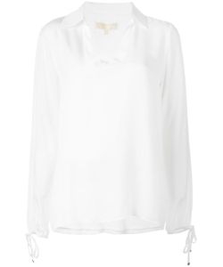 Michael Michael Kors | V-Neck Blouse Small Silk/Polyester