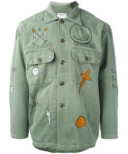 HTC Hollywood Trading Company | Graffiti Military Shirt Large