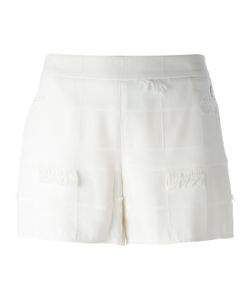 Versace Jeans | Frayed Trim Shorts 40 Polyester/Acetate/Viscose