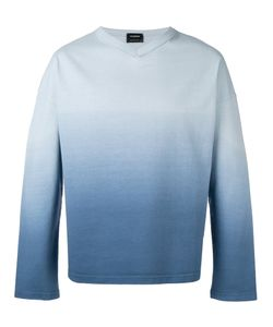 Jil Sander | Ombre V-Neck Sweater Size Small