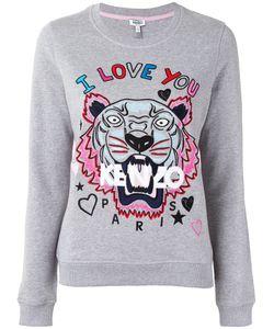 Kenzo | Tiger And Slogan Sweatshirt Medium Cotton/Polyester/Spandex/Elastane