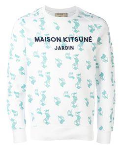 Maison Kitsune | Maison Kitsuné Geometric Print Sweatshirt Medium Cotton