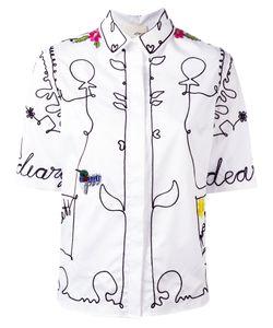 Elaidi | Embroidered Shirt Size 36