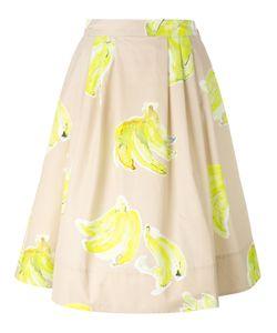 MSGM | Banana Print Midi Skirt 40