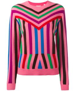 Chinti And Parker | Striped Knit Jumper Small Cashmere