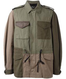 3.1 Phillip Lim | Patchwork Field Jacket Large Cotton/Nylon