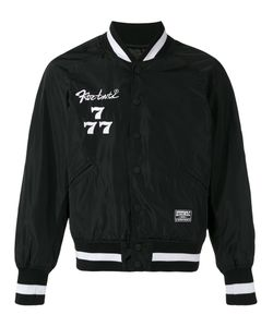 Ktz | Society Embroidered Bomber Jacket Size Large
