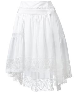 Alberta Ferretti | Lace Trim Asymmetric Skirt Size 40