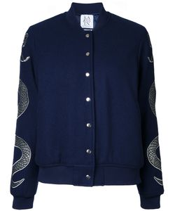 Zoe Karssen | Snakes Bomber Jacket Medium Wool/Viscose