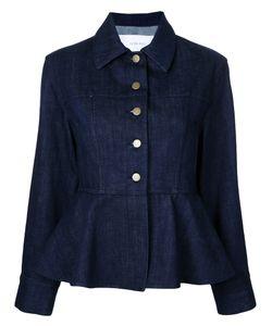 LE CIEL BLEU | Denim Peplum Jacket Size