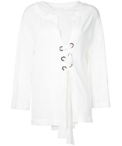 Alberta Ferretti | Lace Up Blouse 42 Cotton