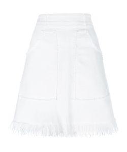 Love Moschino | Frayed Skirt 40 Cotton/Spandex/Elastane