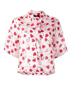 Diesel | Heart Print Blouse Small Viscose
