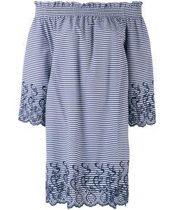 P.A.R.O.S.H. | P.A.R.O.S.H. Short Striped Off The Shoulder Dress