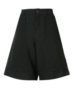 COMME DES GARCONS HOMME PLUS | Comme Des Garçons Homme Plus Wide-Legged Drop-Crotch Bermudas Size Small