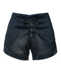 GREG LAUREN | Perforated Satin Shorts Size 2