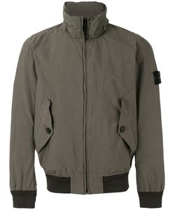 Stone Island | Ribbed And Shell-Trimmed Windbreaker Size Large Cotton/Polyamide/Polyurethane