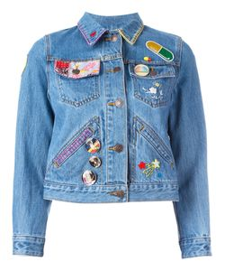 Marc Jacobs | Embroidered Shrunken Denim Jacket Small