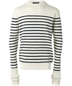 Y / PROJECT | Elongated Sleeve Striped Sweater Size Xl