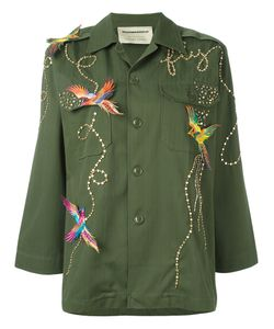 Night Market | Birds Military Jacket Cotton/Polyester/Glass/Metal