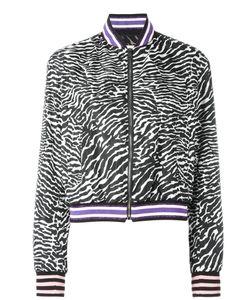 GIAMBA | Zebra Pattern Bomber Jacket 40 Polyimide/Cotton/Viscose/Polyamide