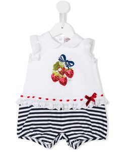 Mona Lisa | Monnalisa Sequin Strawberry Embroide Shorties Infant 9 Mth