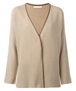 Fabiana Filippi   Leather Trim Cardigan Size 42