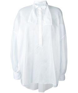 Ermanno Scervino | Полупрозрачная Рубашка С Завязкой На Горловине